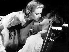 Grace Kelly and James Stewart in Rear Window 1954