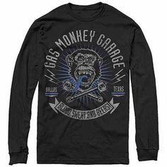 Authentic GAS MONKEY GARAGE Fast N Loud Dallas Texas Made T-Shirt S-2XL NEW