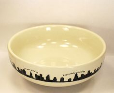"""Homer Laughlin New York Skyline Pasta Bowl made exclusively for Fishs Eddy 9"""" diameter, 56 oz. 