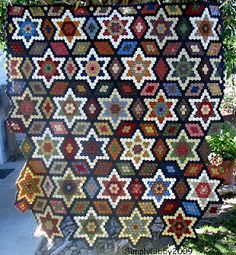 Beautiful Hexagon Quilt by Simply Libby