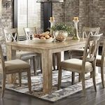 Signature Design by Ashley Mestler 5-Piece Dining Set Bisque and Antique White