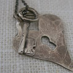Heart and Soul Trust Necklace  Padlock and Key by inkjewelry, $78.00