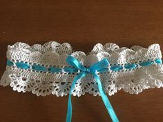 Crocheted Lace Wedding Garter