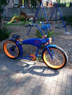 Classic Bicycle Parts Chopper Motorcycle, Motorcycle Style, Custom Beach Cruiser, Tricycle Bike, Lowrider Bike, Cruiser Bicycle, Cool Bike Accessories, Cool Bikes, Rat Bikes