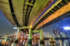 Sumida River 隅田川と首都高夜景【HDRi】