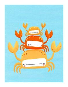 crabs nursery art