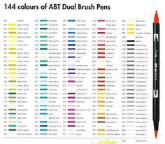 Best Watercolor Markers Images On Pinterest In Tombow - Tombow abt markers