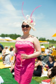 Hat With Pink Feathers, Veuve Clicquot Polo Classic