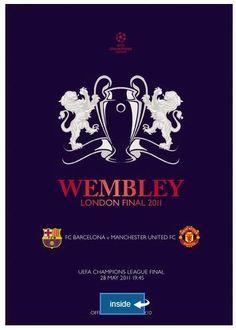Za 28 mei 2011 Barcelona FC - Manchester United in London (Wembley Stadium) 2011 Champions League Final, Uefa Champions League, Ucl Final, Retro Football, Football Posters, Football Pics, Pro Evolution Soccer, European Cup, Pep Guardiola
