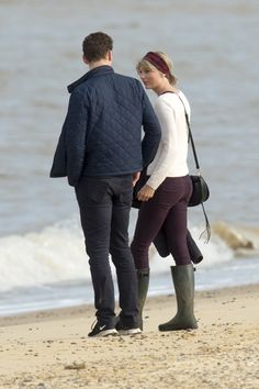 Taylor and Tom at the beach in Suffolk 6.26.16