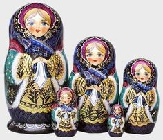 Winter Beauty Matryoshka. I have always loved and wanted some of these :)