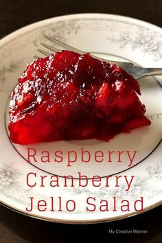 Easy to make Raspberry Cranberry Jello salad that is a perfect dessert for Thanksgiving or any other holiday celebration. Easy to make Raspberry Cranberry Jello salad that is a perfect dessert for Thanksgiving or any other holiday celebration. Cranberry Salad Recipes, Cranberry Jello, Canned Cranberry Sauce, Jello Recipes, Dessert Recipes, Relish Recipes, Cookie Recipes, Jello Deserts, Congealed Salad