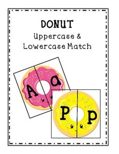 Are your looking for a fun, cute, and effective activity for your kiddos? Donut uppercase & lowercase match is perfect for you! You can use this as a word work or literacy center in your Pre-k or Kindergarten classroom! Simply print, cut, laminate, and you are ready to go!