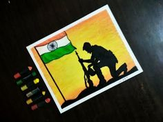 Independence Day Specialy beginners and kids Oil pastel drawing step by step Simple Canvas Paintings, Oil Pastel Paintings, Oil Pastel Art, Indian Art Paintings, Oil Pastels, Army Drawing, Soldier Drawing, Moon Drawing, Drawing Step