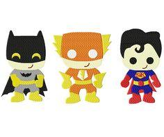 INSTANT DOWNLOAD Superhero Kid Team Mega Three by EmbroideryFirst