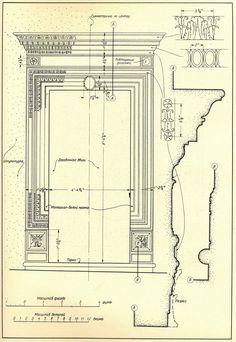 Рим. Дверной проем дворца Канчеллериа. Двери и порталы в итальянской архитектуре