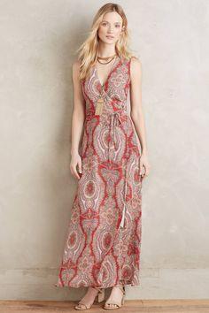 Paisley Silk Maxi Dress - anthropologie.com ($148)