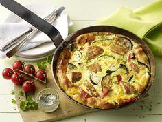 Hähnchen-Gemüse-Frittata - Rezept