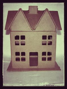 Empty nest syndrome. Blank Putz houses to decorate from Hobby Lobby US.