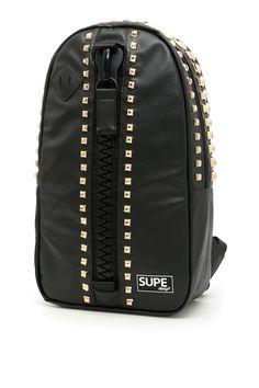 SUPE DESIGN DAY BAG ROCK BACKPACK. #supedesign #bags #leather #lining #backpacks #