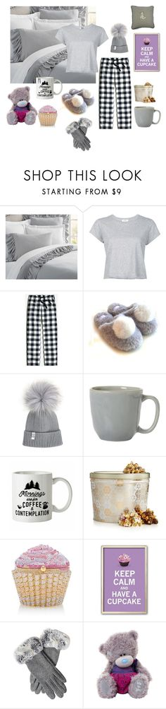 """""""A day at home"""" by ishasinghal ❤ liked on Polyvore featuring Pottery Barn, RE/DONE, J.Crew, Juliska, The Hampton Popcorn Company and Judith Leiber"""