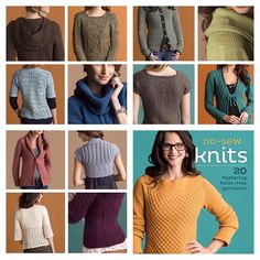 No-Sew Knits - 20 Flattering Finish-Free Knits. No sewing required! http://ift.tt/1oVk4DW #knitting