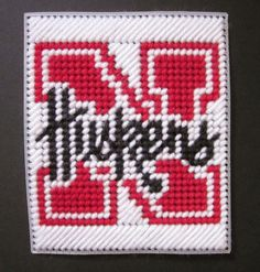 Nebraska Cornhuskers tissue box cover in plastic canvas PATTERN ONLY