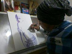 Eu e a minha arte na canetas esferográfica. @lierbethsousa_art
