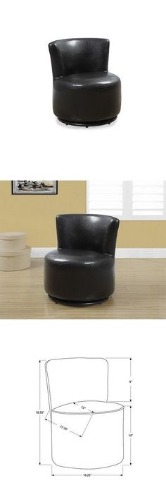Play Tables And Chairs 66743: Monarch Kids Leather Swivel Chair In Dark  Brown  U003e