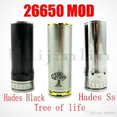 Best 26650 Mod - Cheap 26650 Mod Hades Mod Tree of Life Mod for 26650 Size Battery Stainless Steel 28mm with Atomizer E Cigarette Best Selling Online with $19.74/Piece | DHgate