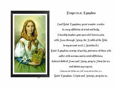 Prayer to St. Dymphna by Barbara Griffin. A prayer to the young martyr, St. Dymphna for good nervous and mental health. Novena Prayers, Catholic Prayers, Catholic Saints, Roman Catholic, St Dymphna, Christian Wife, Prayer Board, Daily Prayer, Faith In God