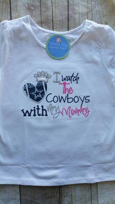Dallas Cowboys Inspired Girl Shirt. Vinyl ShirtsFootball ... f0161e9b3