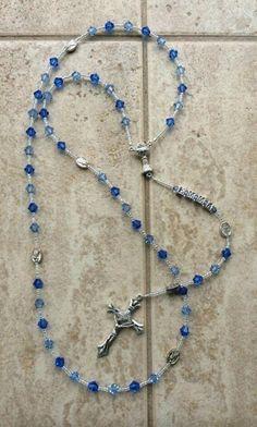 Swarovski Crystal Personalized Rosaries  Www.lisacrystalcreations.etsy.com