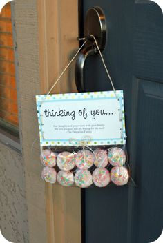 The Comfort of a Cupcake - Somewhat Simple-sweet way to let someone( who is going through a rough time)know you are there for them...Could get creative and do wonderful things with this simple concept :)