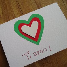 I love You Italian Valentine's card by onelittlepug on Etsy, $2.25