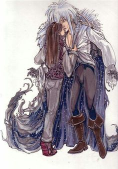 Explore the Sarah and Jareth collection - the favourite images chosen by Aniyumex on DeviantArt. David Bowie Labyrinth, Labyrinth 1986, Labyrinth Movie, Sarah And Jareth, Gothic Culture, Fraggle Rock, Goblin King, The Dark Crystal, Fantasy Movies
