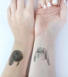 Bunny tattoos are perfect for festivals, fancy dress, or just for fun!