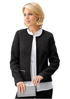 Jacquard-jakku musta