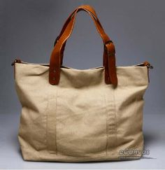 canvas & leather tote bag | Zen bags | Pinterest | Leather tote ...
