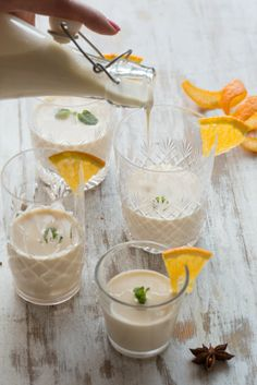 CHRISTMAS SPICED EGGNOG Try it blended with our Leaf & Ardor) chilled Earl Grey tea!
