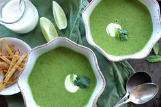 The Bojon Gourmet: Zucchini Cilantro Soup with Chile and Mint  (based on a Deborah Madison recipe)