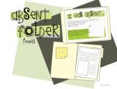 Absent Folder Fronts from KindergartenWorks on TeachersNotebook.com  NO EXCUSES!