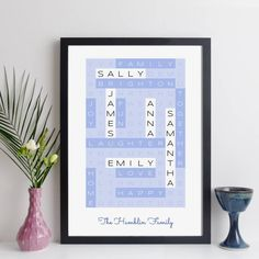 Personalised Family Wordsearch Print By Elevencorners | notonthehighstreet.com