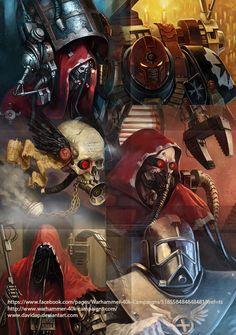 Omnissia Avatars by DavidAP on DeviantArt Warhammer 40k Figures, Warhammer Art, Warhammer 40000, Character Concept, Concept Art, Character Design, Grey Knights, War Hammer, Fantasy Miniatures