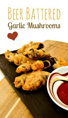 An easy recipe for beer battered garlic mushrooms. These are made in minutes and utterly delicious. This lightly spiced batter never lets me down. These are great with salad for a starter/entree or as a snack. Suitable for vegetarians and vegans.