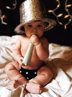 DIY Baby New year pictures for under $10.00.