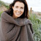 Wonga Road Alpaca Throw Blanket – Taupe & Grey $220