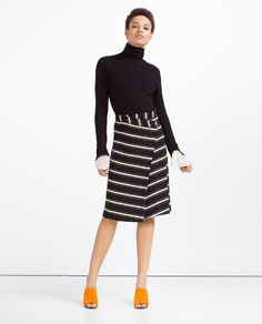 Image 1 of STRIPED WRAP SKIRT from Zara