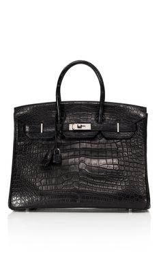 Heritage Auctions Special Collections 35cm Black Matte Alligator Birkin at Moda Operandi for a cool $65,000.
