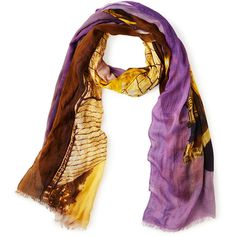 ShawLux Scarves Louvre Love Scarf ($68) ❤ liked on Polyvore featuring accessories, scarves, purple shawl and purple scarves